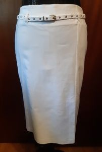 Dynamite White Hip Belted Skirt Size 7